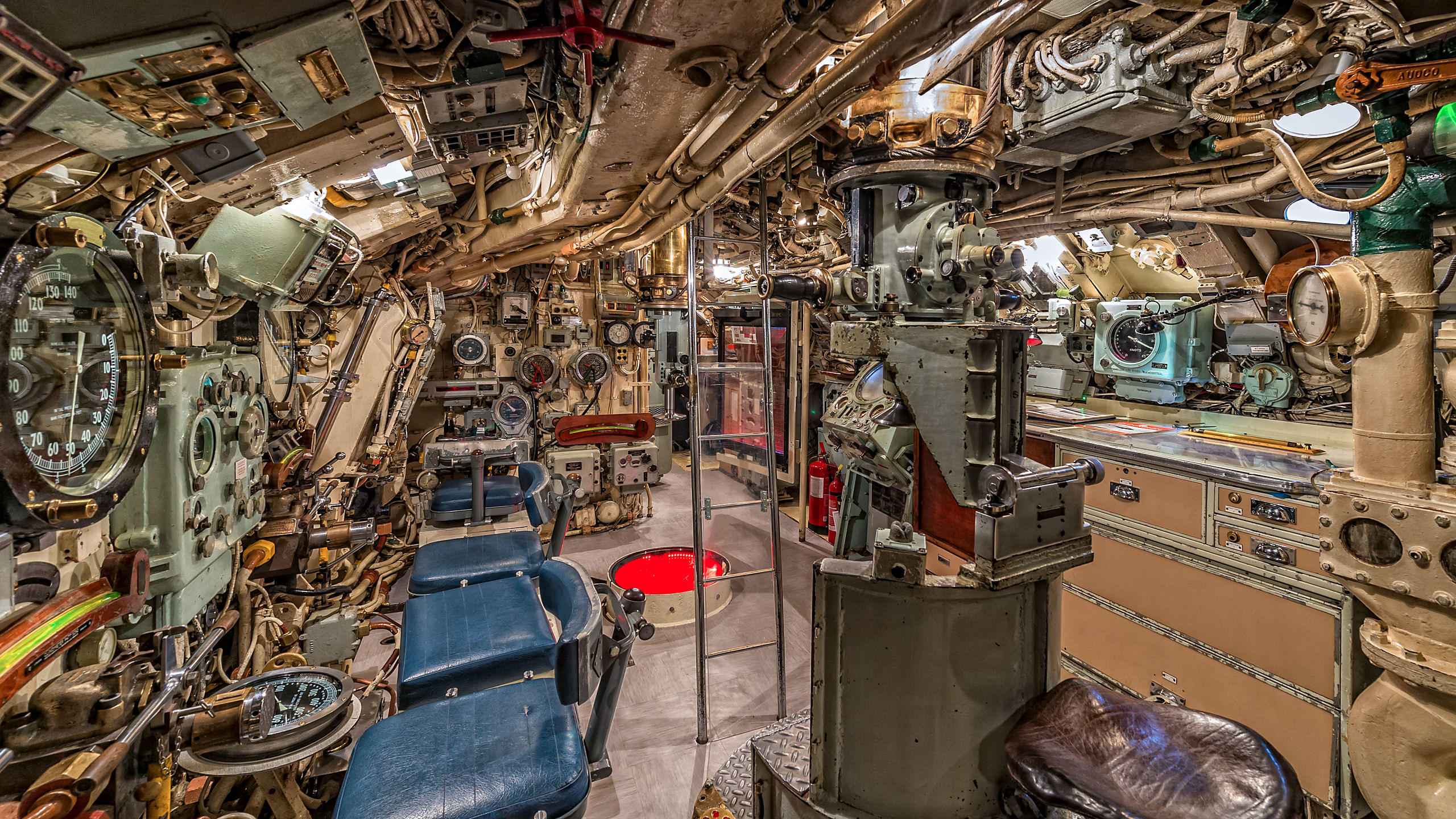 HMS Alliance Submarine Interior