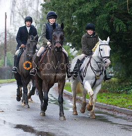 Leaving the meet - The Cottesmore Hunt at Belton-in-Rutland 21/12