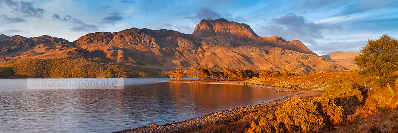 BP3087C  - Panoramic view of Slioch, from Loch Maree