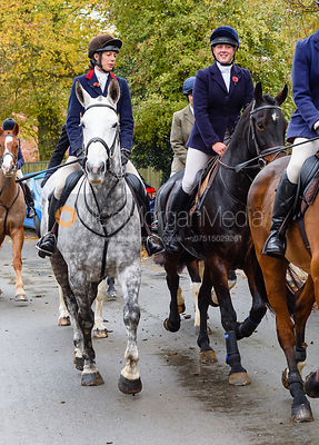 Ida Thore leaving the meet. The Cottesmore Hunt at Braunston