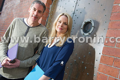 6th March, 2015.Sean Fennell (CEO) and Julie Currid (COO) of initiafy photographed at Exchange Street, Dublin...Photo:Barry C...
