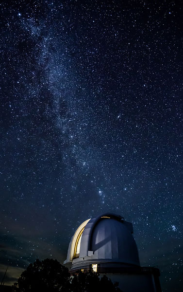 Harlan J. Smith Telescope and the Milky Way