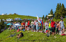 Spectators of Le Tour de France