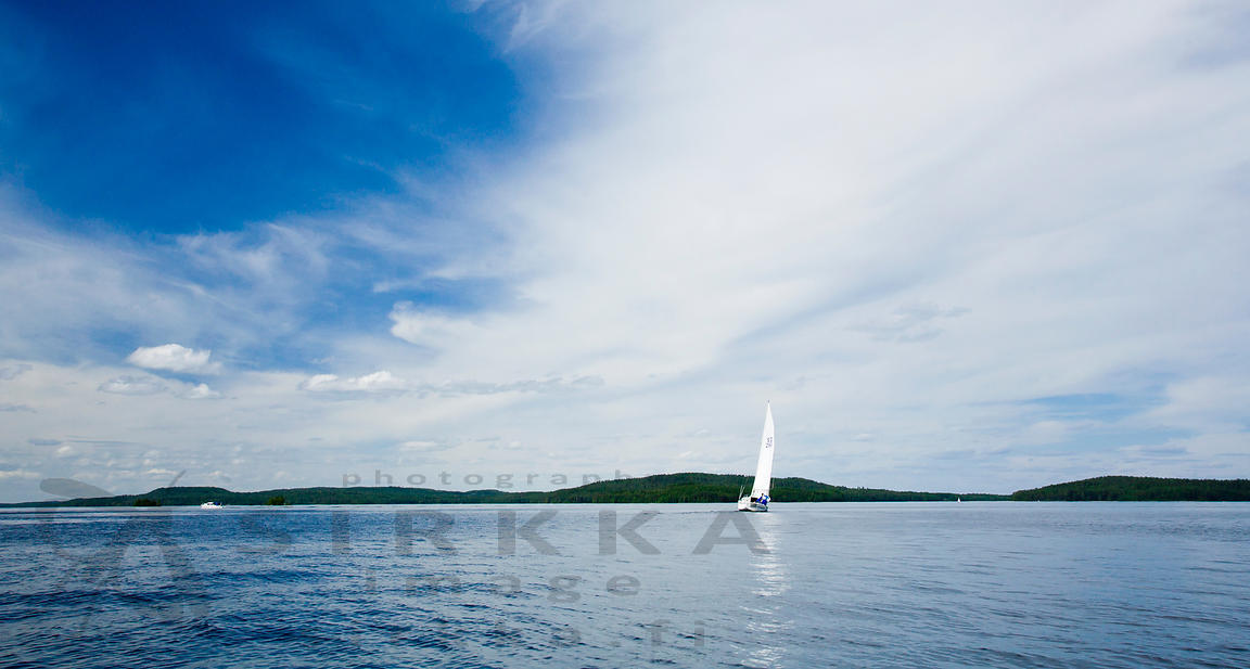 Sailingboat in Päijänne National Park