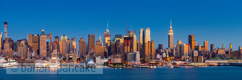 Mid Manhattan skyline from New Jersey, New York - BP4510