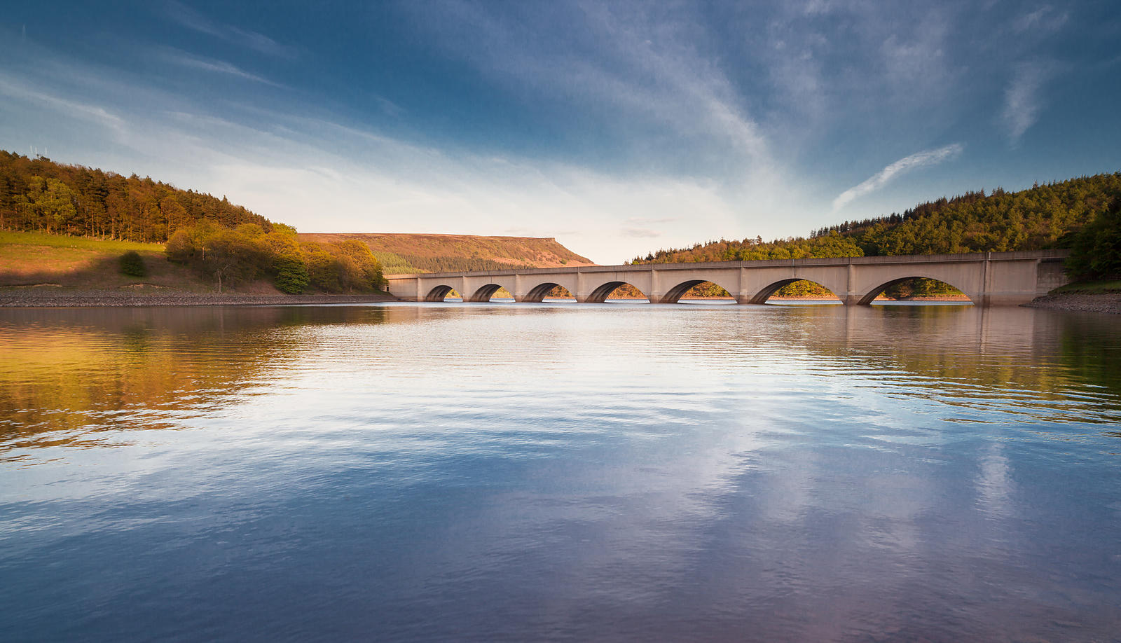Late afternoon reflections at Ladybower