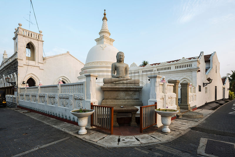 Buddhist Temple in the Center of Historic Galle