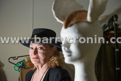 28th May, 2014 - Costume designer Joan Bergin who has three Emmys under her belt photographed with a head she calls 'Valkyrie...