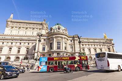 Sightseeing-Bus, Palais Garnier, Opernhaus, Paris