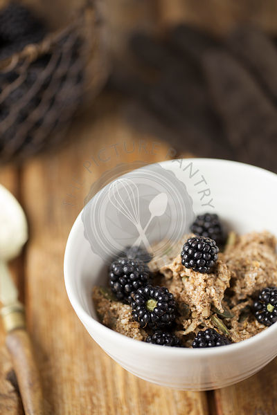 Cinnamon Bircher Muesli with Blackberries