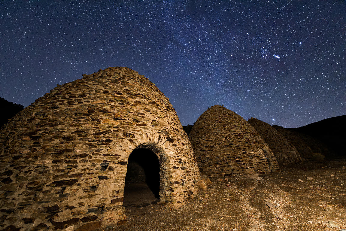 Orion Rising Over Charcoal Kilns