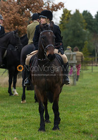 Young followers at the meet - The Cottesmore Hunt at Burrough House 18/12