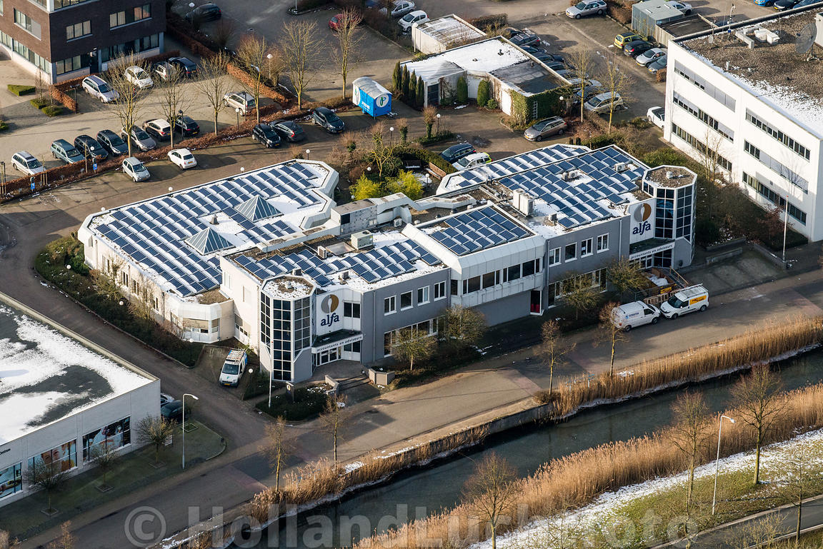 Wageningen - Luchtfoto Alfa Accountants