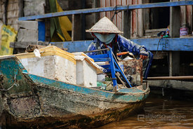 Market Seller in Boat