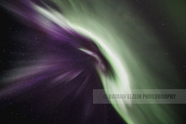 Green and purple aurora