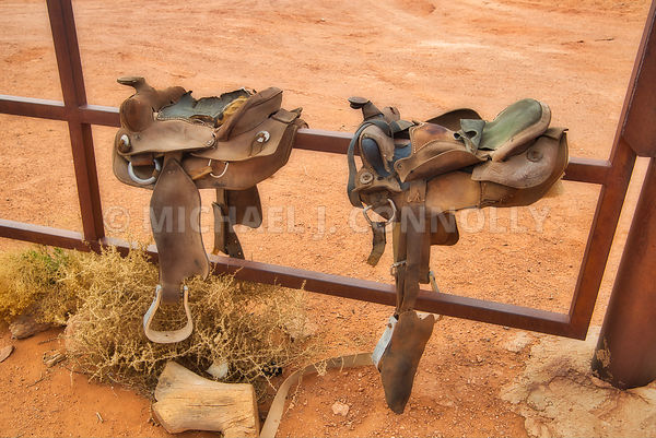 Worn Out Western Saddles (Old Memories) Monument Valley- Navajo Nation On The Arizona/Utah Border