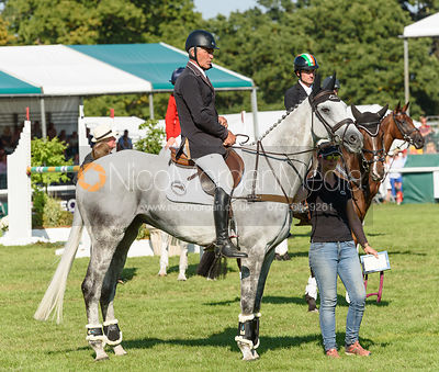 Andrew Nicholson and SWALLOW SPRINGS, show prize giving, Land Rover Burghley Horse Trials 2018