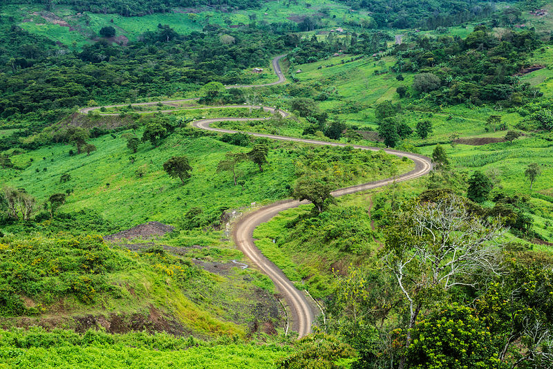 Country Road in Southern Ethiopia