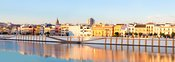 Triana district with river Guadalquivir, Seville, Spain