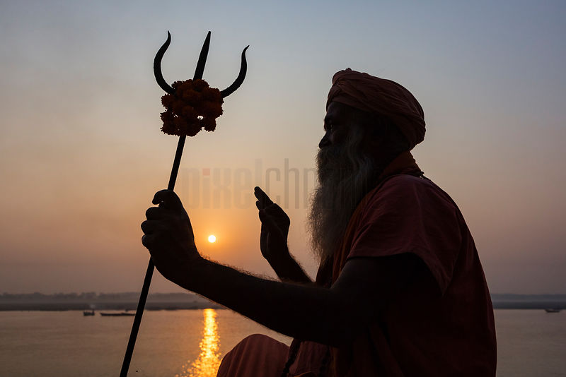Sadhu Greeting the Sunrise