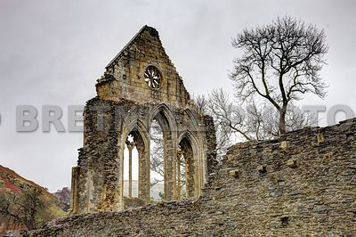 Vale Crucis Abbey (Valley of the Cross), Llangollen, Denbighshire