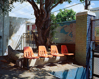 Orange Chairs, Kingston, Jamaica
