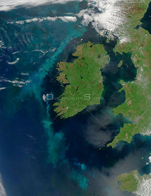 EARTH Western Europe -- 2005 -- This MODIS image features the whole of the Republic of Ireland and parts of the United Kingdo...