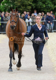 Merel Blom and RUMOUR HAS IT - First Horse Inspection, Mitsubishi Motors Badminton Horse Trials 2014