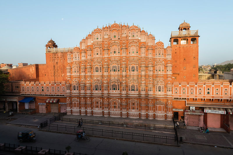 Facade of the Jawa mahal (Wind Palace) at Dawn