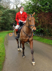 Chris Edwards arriving at the meet - The Cottesmore Hunt at Little Dalby 7/2