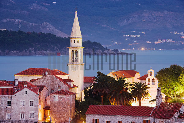 The Old Town of Budva, Adriatic Coast, Montenegro