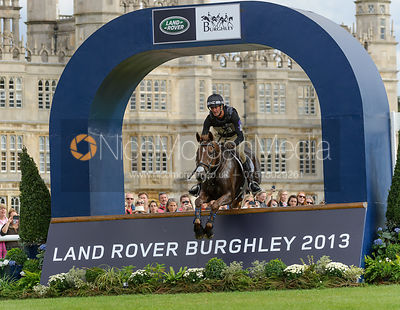 Mark Todd and OLOA - cross country phase,  Land Rover Burghley Horse Trials, 7th September 2013.