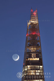 The Shard with Crescent Moon