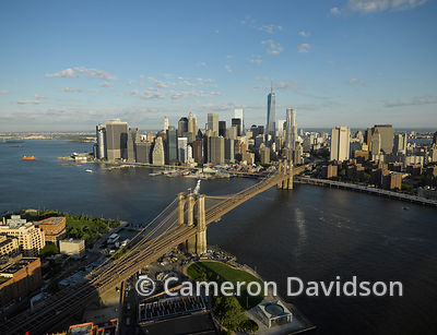 Aerial photogrpah of  Brooklyn Bridge