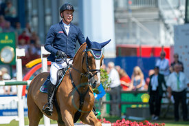 22/07/18, Aachen, Germany, Sport, Equestrian sport CHIO Aachen 2018 - Rolex Grand Prix,  Image shows Mario STEVENS (GER) ridi...