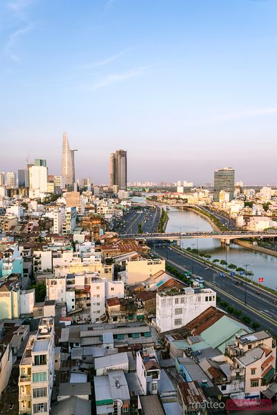 Saigon (Ho Chi Minh City) skyline at sunset, Vietnam