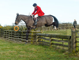 Hartley Crouch jumping a hunt jump at Hill Top Farm