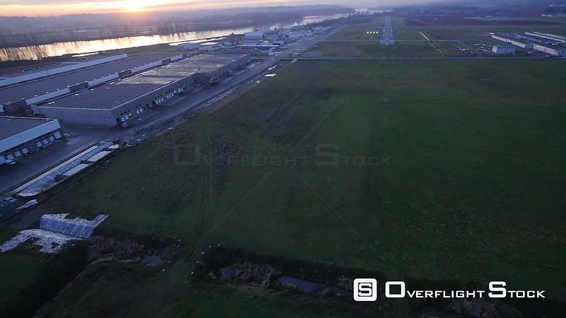 Final Approach for Landing in a Cessna to Runway 26L of Pitt Meadows BC Canada