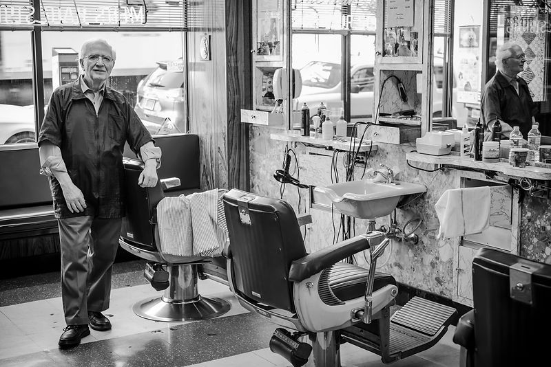 Old fashioned barber shop in Brooklyn, New York by Jason Tinacci
