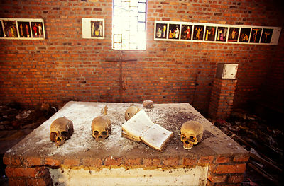 The church at Ndera, Rwanda that is now a national monument to those who were murdered inside by Hutu militias during the 199...