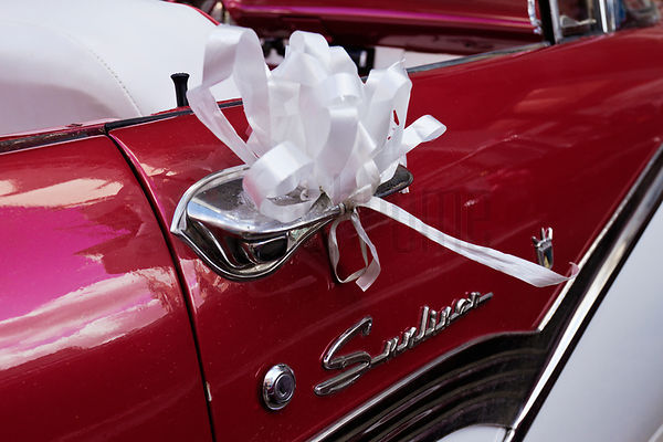 Ford Fairlane Sunliner Decked out for a Wedding