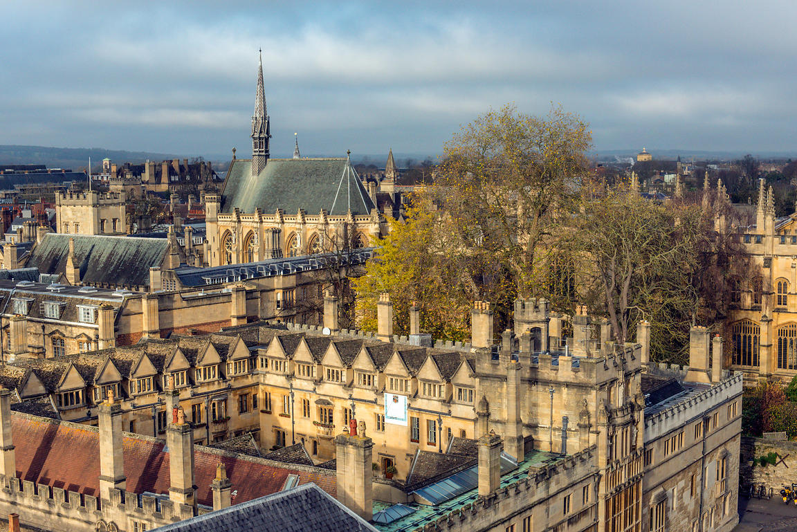 Oxford college rooftops