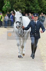 Johann Lundin and JOHNNY CASH - First Horse Inspection, Mitsubishi Motors Badminton Horse Trials 2014