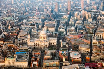 Aerial view of St Paul's cathedral, London, United Kingdom