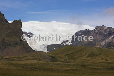 Glacial landscape of Skaftafell National Park, from Road 1, Austurland (Eastern Region, East Iceland), Iceland