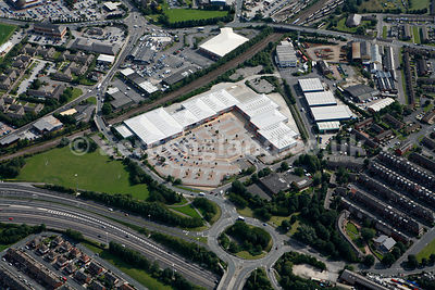 aerial photograph of Tulip South Retail Park, Tulip Road, Leeds LS10 2BB