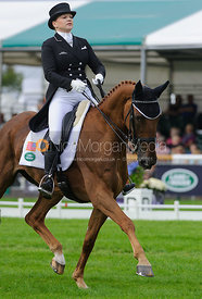Marilyn Little and RF DEMETER - dressage phase,  Land Rover Burghley Horse Trials, 4th September 2014.