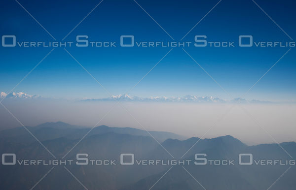 Smog in Kathmandu Valley and Himalayas Nepal
