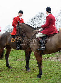 Nicholas Leeming, Rowan Cope At the meet. The Cottesmore and The Pytchley at Downton House