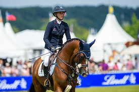 21/07/18, Aachen, Germany, Sport, Equestrian sport CHIO Aachen 2018 - U25 Springpokal,  Image shows Justine Tebbel. Copyright...